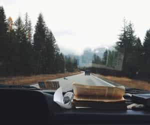 article, driving, and scenery image