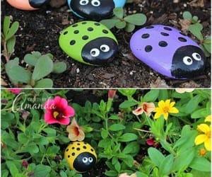 children, decorating, and garden image