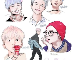 bts, kpop, and rap monster image