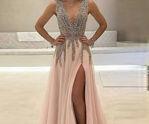 beaded, dress, and dresses image