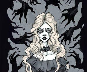 ilustraciones, manos, and oscuridad image