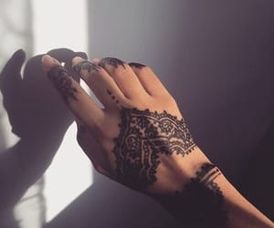 black, henna, and art image