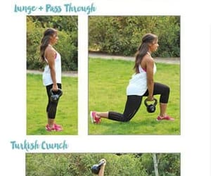 fitness, workout, and kettlebell image