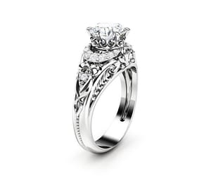 engagement, vintage ring, and engagement ring image