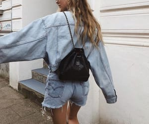 casual, chanel, and denim image