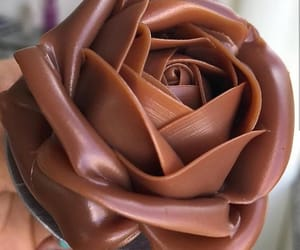 chocolate, rose, and delicious image