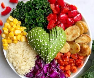 colors, delicious, and fitness image