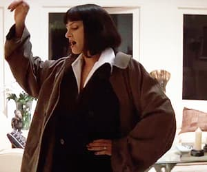 film, gif, and pulp fiction image