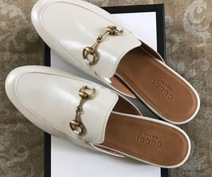 gucci, white, and loafers image