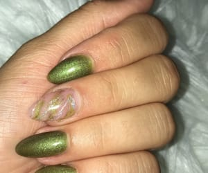 girl, green nails, and luxury image