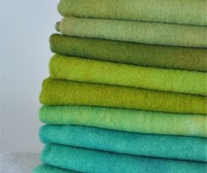 green, blue, and fabric image