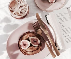 food and rose gold image