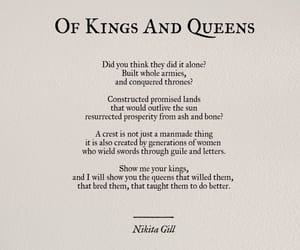 quotes, woman, and of kings and queens image