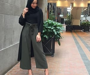 elegant, green, and wide pants image