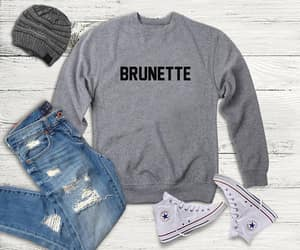 brunette, etsy, and tumblr image