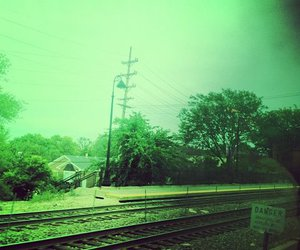 band, danger, and train image