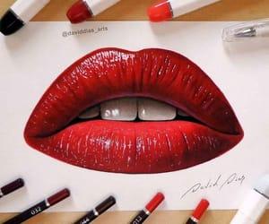 arte, belleza, and boca image