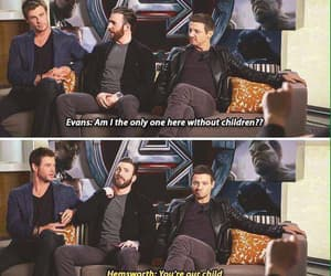 chris evans, Marvel, and chris hemsworth image