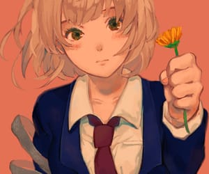 anime, flower, and girl image