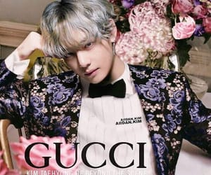 bts, taehyung, and gucci image