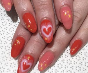 heart, nails, and red image