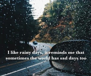 feelings, quotes, and rain image