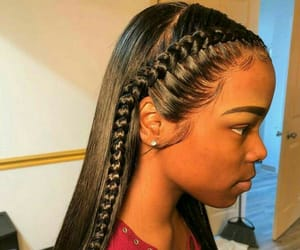 braids, fashion, and frontal image