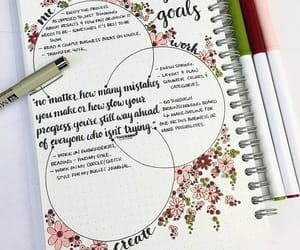 bullet journal, journal, and flowers image
