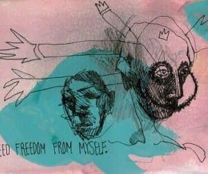 art, freedom, and grunge image
