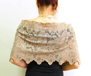 accessories, weddings, and dress coverup shawl image
