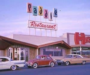 car, restaurant, and vintage image