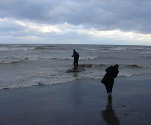 sea, grunge, and beach image