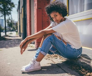 black beauty, converse, and girls image