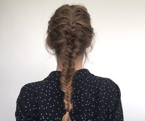 braid, hair, and fishbraid image