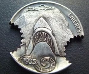 art, coin, and jaws image