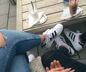 adidas, couples, and style image