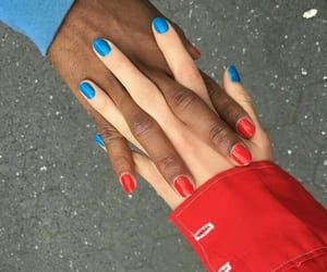 blue, red, and girl image