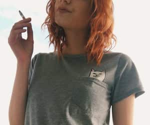 cat, cigarette, and ginger image