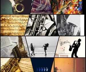 sax, saxophone, and music image