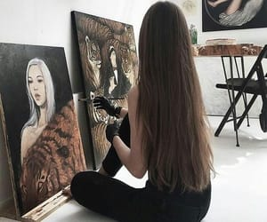art, hair, and beauty image
