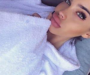pretty eyes, pretty girl, and beautiful lady image