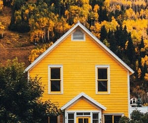 yellow, house, and photography image