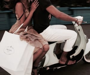 couple, Relationship, and Vespa image
