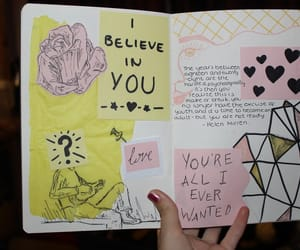 journal, yellow, and pink image