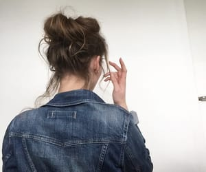 hair, jeans jacket, and hairstyle image