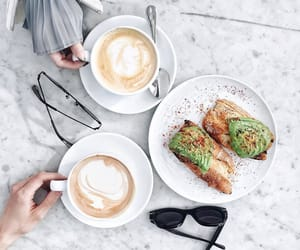 food, coffee, and avocado image