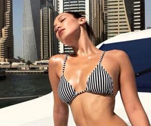 bikini, model, and bella hadid image