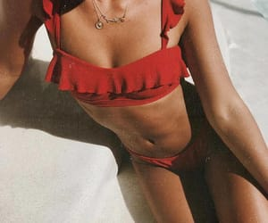 bikini, fashion, and red image