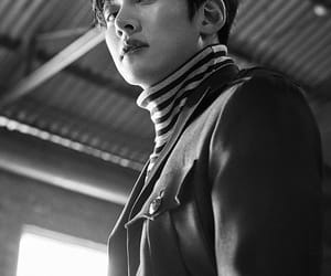 ji chang wook and black and white image