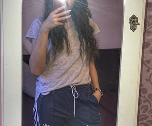 adidas, blue, and curly image